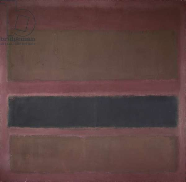 No. 18 (Brown and Black on Plum), 1958 (oil on canvas)