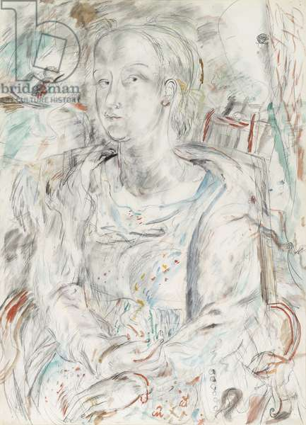 Petra, 1932 (pencil and watercolour)