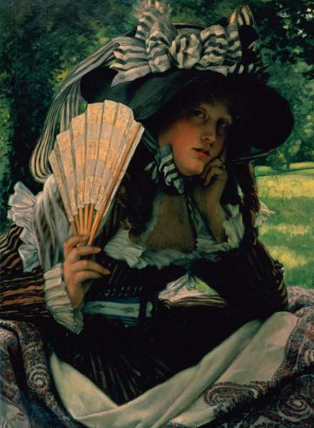 Girl with a Fan, 1870-1871 (oil on panel)