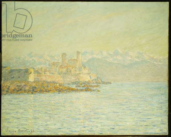 The Old Fort at Antibes (oil on canvas)