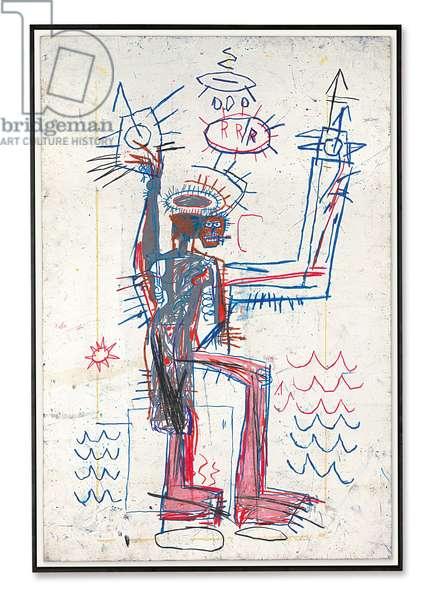 Untitled, 1982 (oilstick on paperboard)