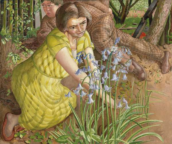 Hilda with Bluebells, 1955 (oil on canvas)