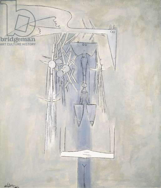 I am arriving (Figure), 1961 (oil on canvas)