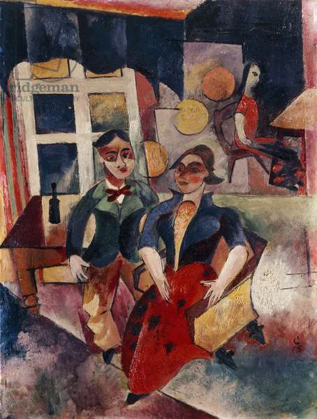 Young Couple; Junges Paar, 1915 (oil on cardboard)
