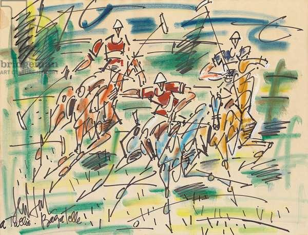 Bagatelle, c.1960 (gouache, watercolour and felt tip pen on paper)