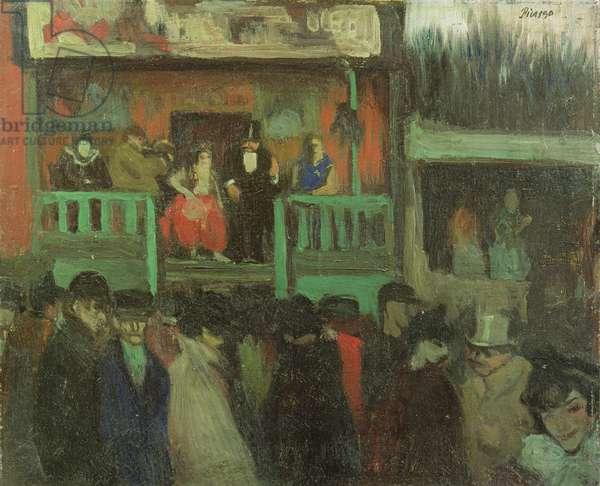 A Booth at the Fair, c.1900-02 (oil on canvas)