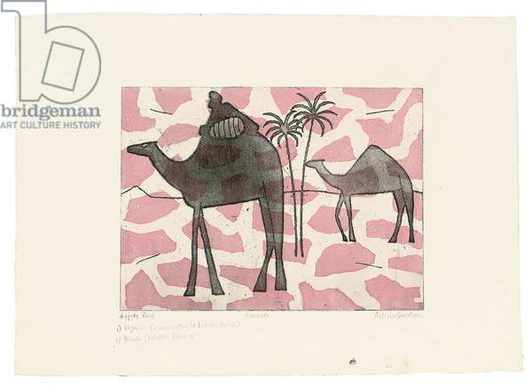 Camels (Turner 254), 1972 (colour etching & aquatint)