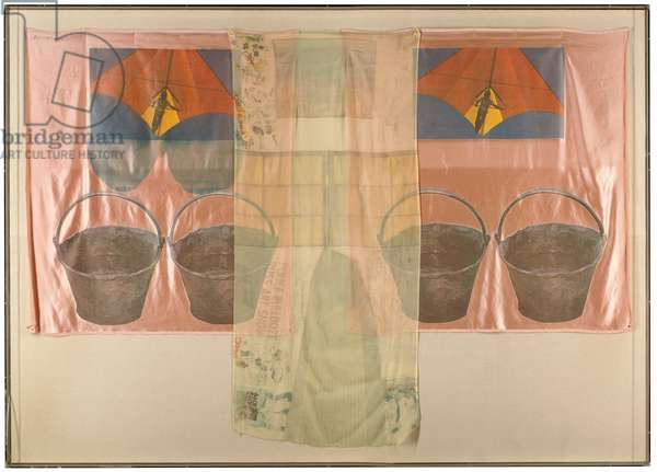 Plus Fours, 1974 (offset litho & screenprint transfers on silk chiffon & silk satin)