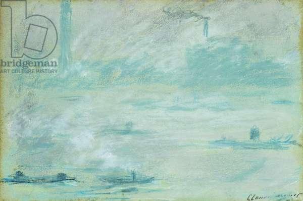 London, Boats on the Thames; Londres, Bateaux sur la Tamise, 1901 (pastel on paper)
