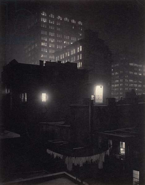 From the Back Window, 291 - N.Y., 1915 (platinum print photograph)