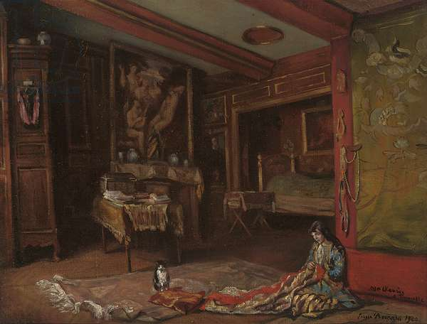 My Room at Tonnerre, 1920 (oil on canvas)