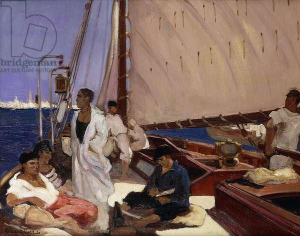 Turkish Ship; Bateau Turque - Turkse Boot, (oil on canvas)