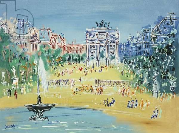 Jardin des Tuileries,  (gouache on paper)