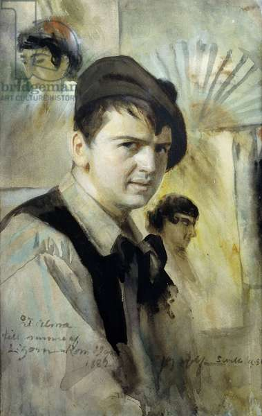 Portrait of the Artist, 1881 (watercolour heightened with white and gum arabic)