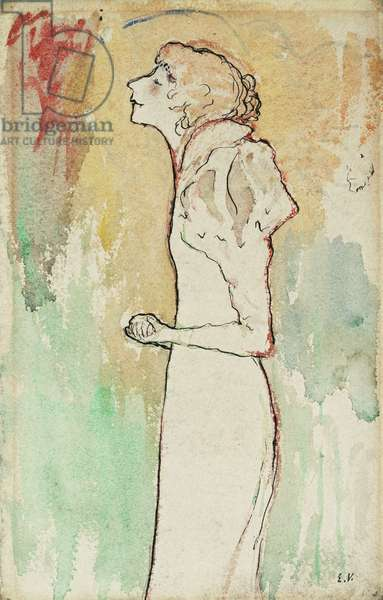 Chanteuse, c.1891-92 (watercolour, pen and India ink on paper)
