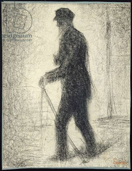 Walking, c.1882 (Conte crayon on paper)