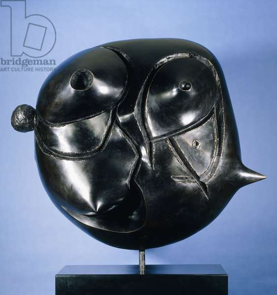 Head; Tete, 1974 (bronze with black patina)