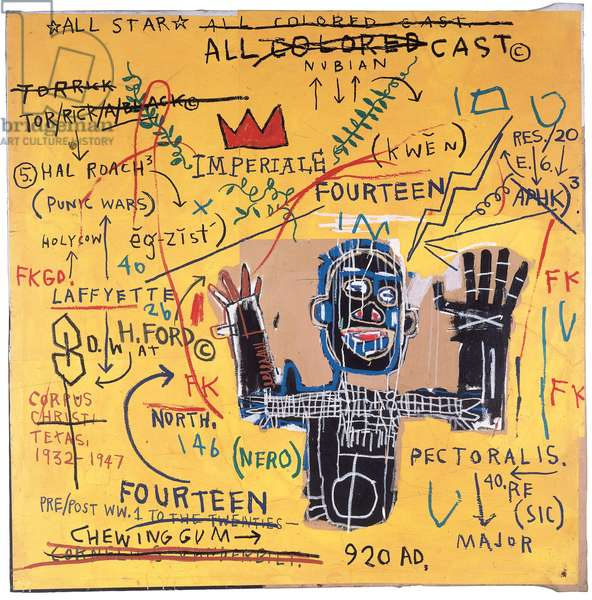 All Colored Cast I, 1982 (acrylic, oilstick & paper collage on canvas)