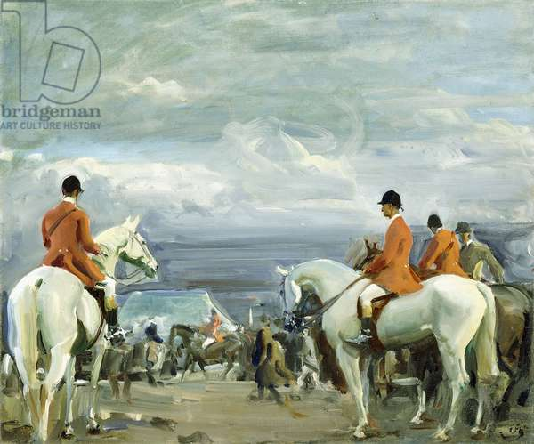 Barrowby Hill Point-to-Point, 1920 (oil on canvas)