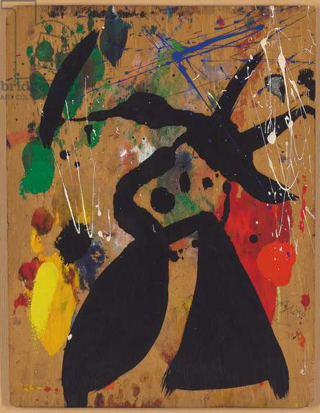 Painting, 1977 (oil over monotype on panel)