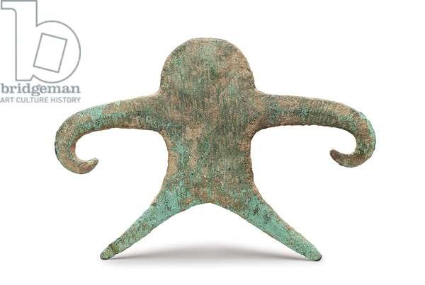 Anthropomorphic figure, Gangetic Plains, c.1500 BC (bronze)