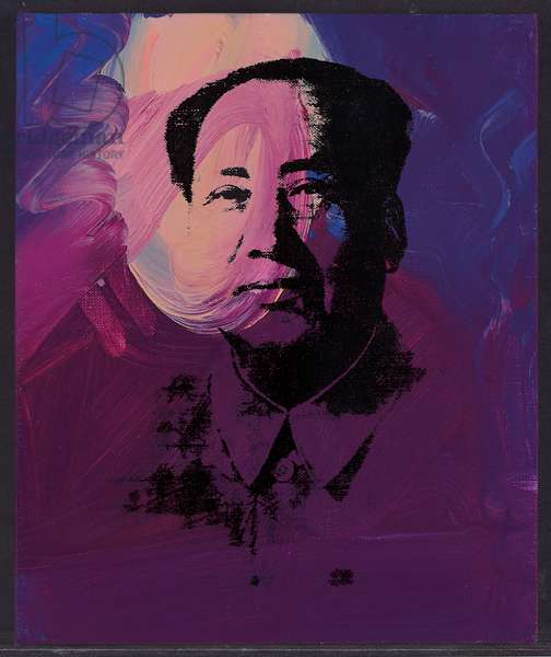 Mao, 1973 (synthetic polymer and silkscreen ink on linen)