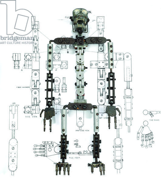 Armature / skeleton miniature model of King Kong, c.1933 (metal) (see also 873087-89)
