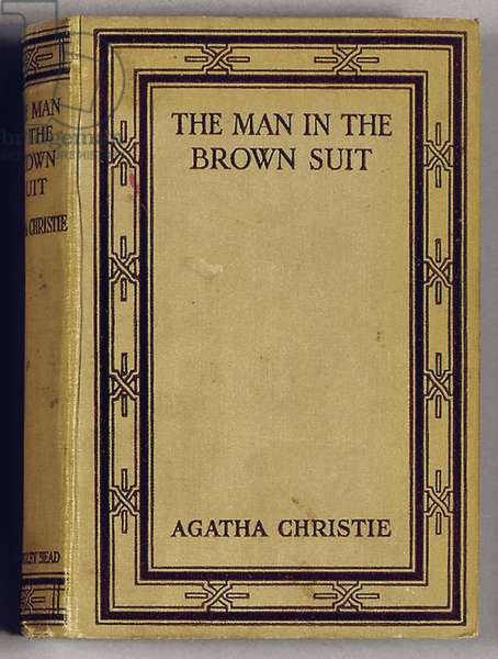 Front cover of 'The Man in the Brown Suit' by Agatha Christie, 1924 (colour litho)
