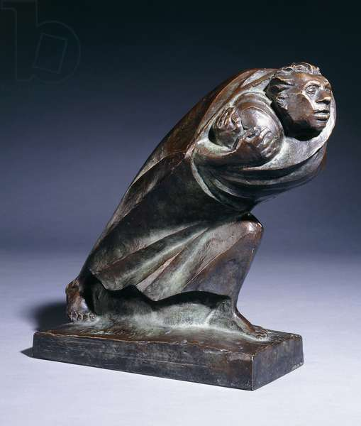 The Refugee; Der Fluchtling, 1920 (bronze with brown patina)