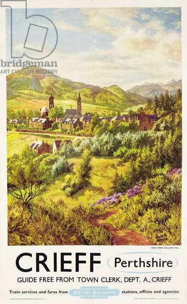 Crieff, Perthshire, poster advertising British Railways (colour litho)