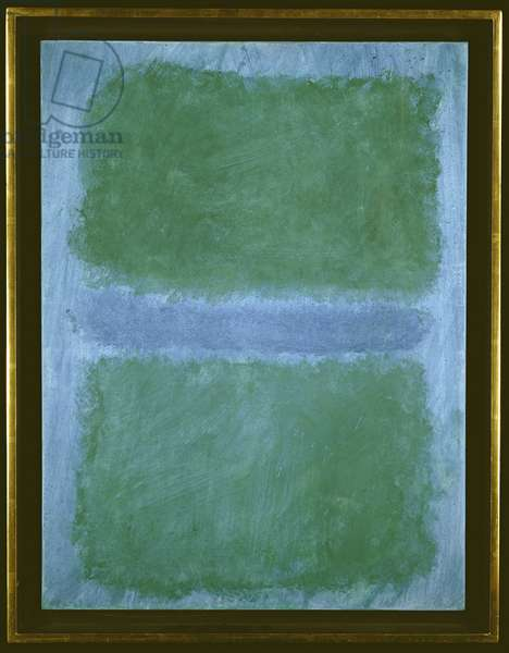 Green Divided By Blue (acrylic on paper)