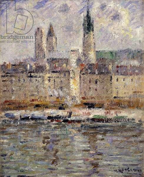View of Rouen; Vue de Rouen, 1927 (oil on canvas)