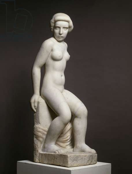 Naked Girl and Drape; Jeune Fille Nue au Drape, 1936 (marble)