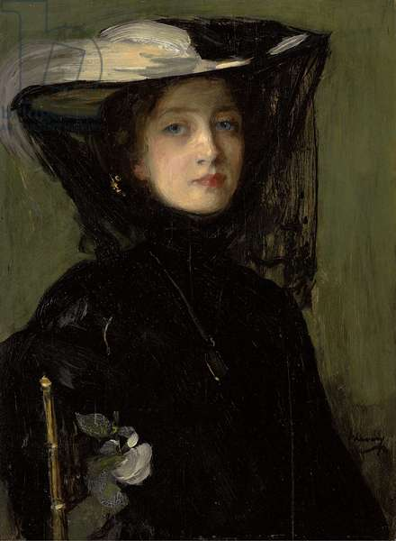 Mary in Black,  (oil on panel)