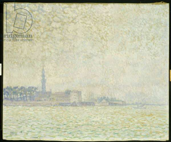 A View of Veere, Misty Morning, 1906 (oil on canvas)