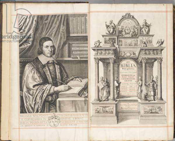 Titlepage to 'Biblia Sacra Polyglotta' by Brian Walton, published in London, 1657 (engraving)