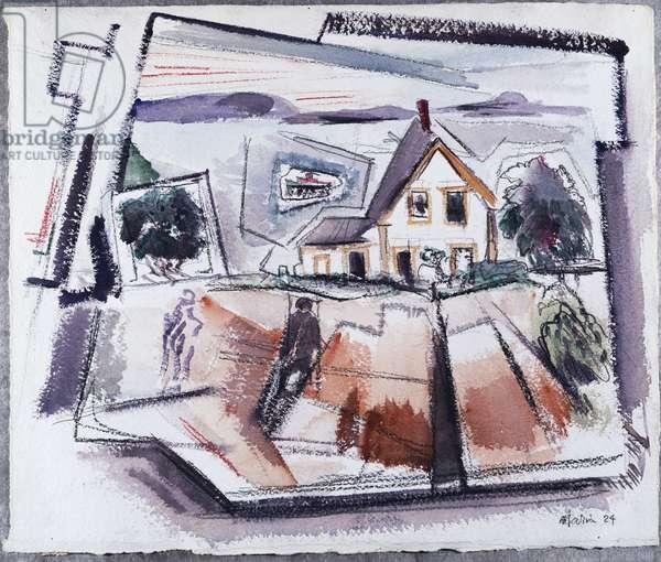 Deer Isle, Stonington, No. 10, Maine (w/c & pencil on paper)