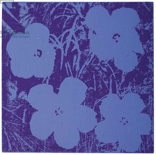 Flowers, 1965 (synthetic polymer and silkscreen ink on canvas)