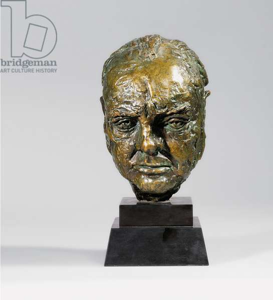 Sir Winston Churchill, conceived 1946 (bronze with green & brown patina)