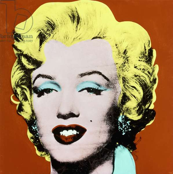 Shot Red Marilyn, 1964 (synthetic polymer and silkscreen inks on canvas)