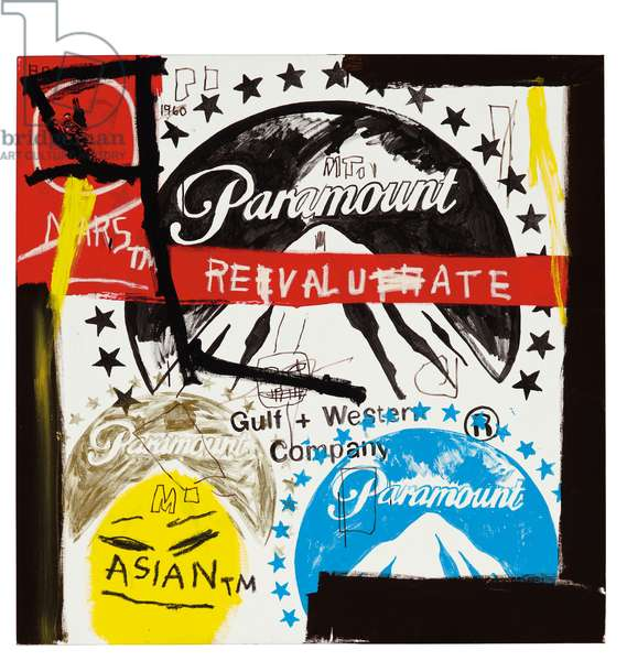 Paramount Pictures, c.1985 (synthetic polymer, silkscreen inks & paint tube collage on canvas)