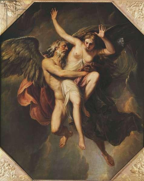 The Rape of Oreithyia (oil on canvas)