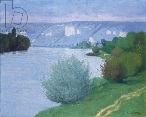 The Seine near Les Andelys, 1916 (oil on canvas)
