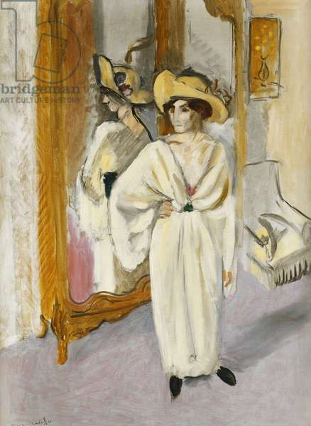 Woman in White; Femme en Blanc, c.1918-19 (oil on canvas)
