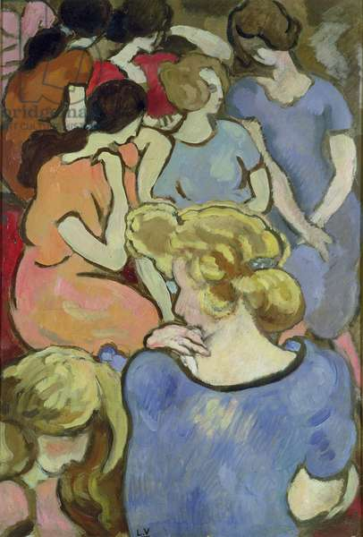 The Women (oil on paper laid down on panel)