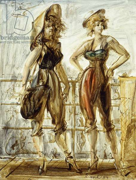 The Boardwalk, 1953 (oil on masonite)