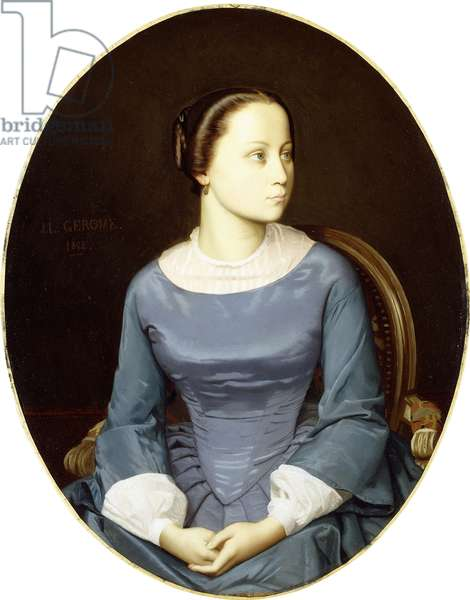 Young Woman in Blue, 1852 (oil on canvas)