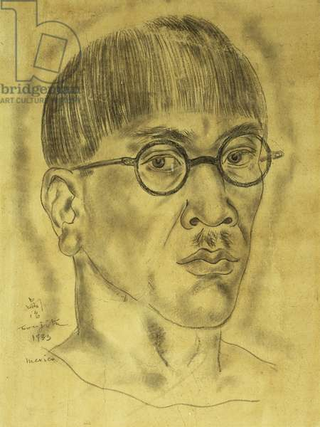Auto-Portrait, 1933 (pencil on tan paper laid on board)