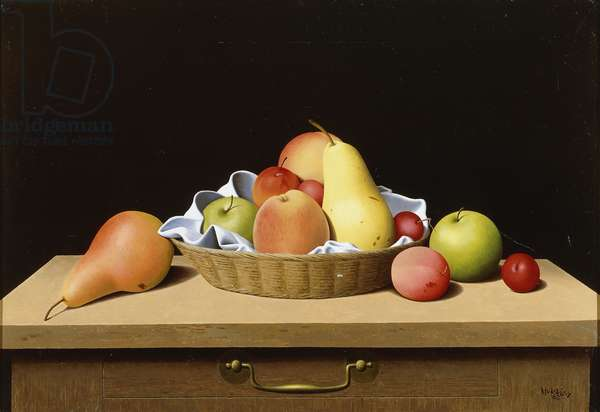 A Basket of Fruit, 1963 (oil on canvas)
