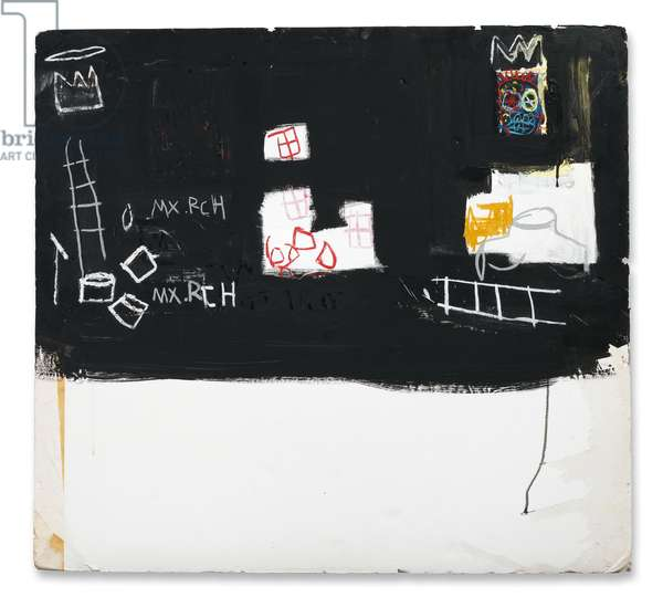 Untitled (Max Roach), 1982 (oil stick and acrylic on foam core)